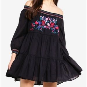 New with tags free people sunbeams dress black